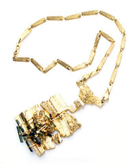 "Bjorn Weckstrom ""Flowering Wall"" Gold Necklace"