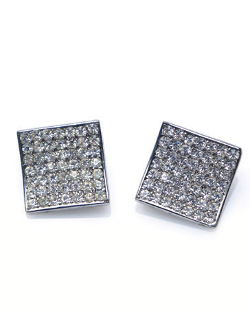 Pierre Cardin Rhinestone Earrings