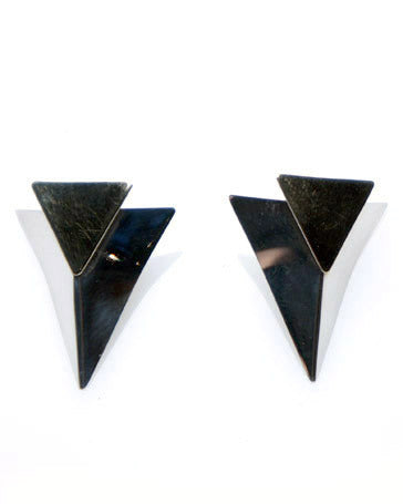 Ed Levin Triangle Earrings