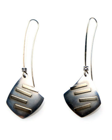 Ed Levin Gold and Silver Lure Earrings