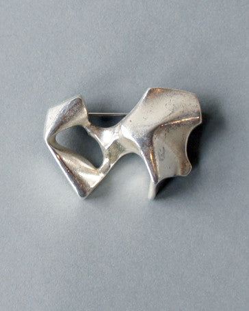 Bjorn Weckstrom Sterling Bone Brooch