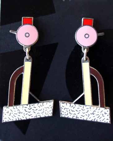 "Ettore Sottsass ""Tahiti"" Earrings"