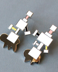 "Ettore Sottsass ""Aurora"" Earrings"