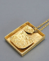 Guy Vidal Reversible Shadow Box Necklace