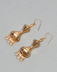 Jorma Laine Gilt Bronze Drop Earrings
