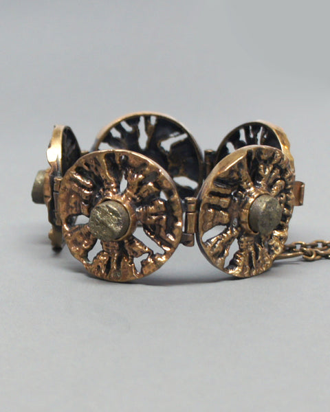 Pentti Sarpaneva Bronze and Pyrite Bracelet