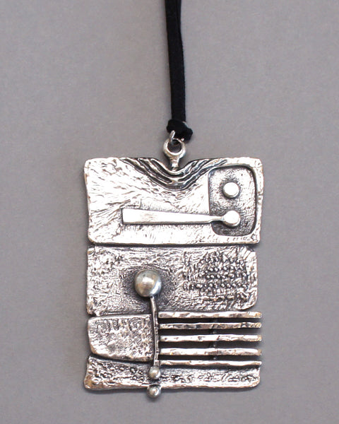Guy Vidal Brutalist Pendant Necklace