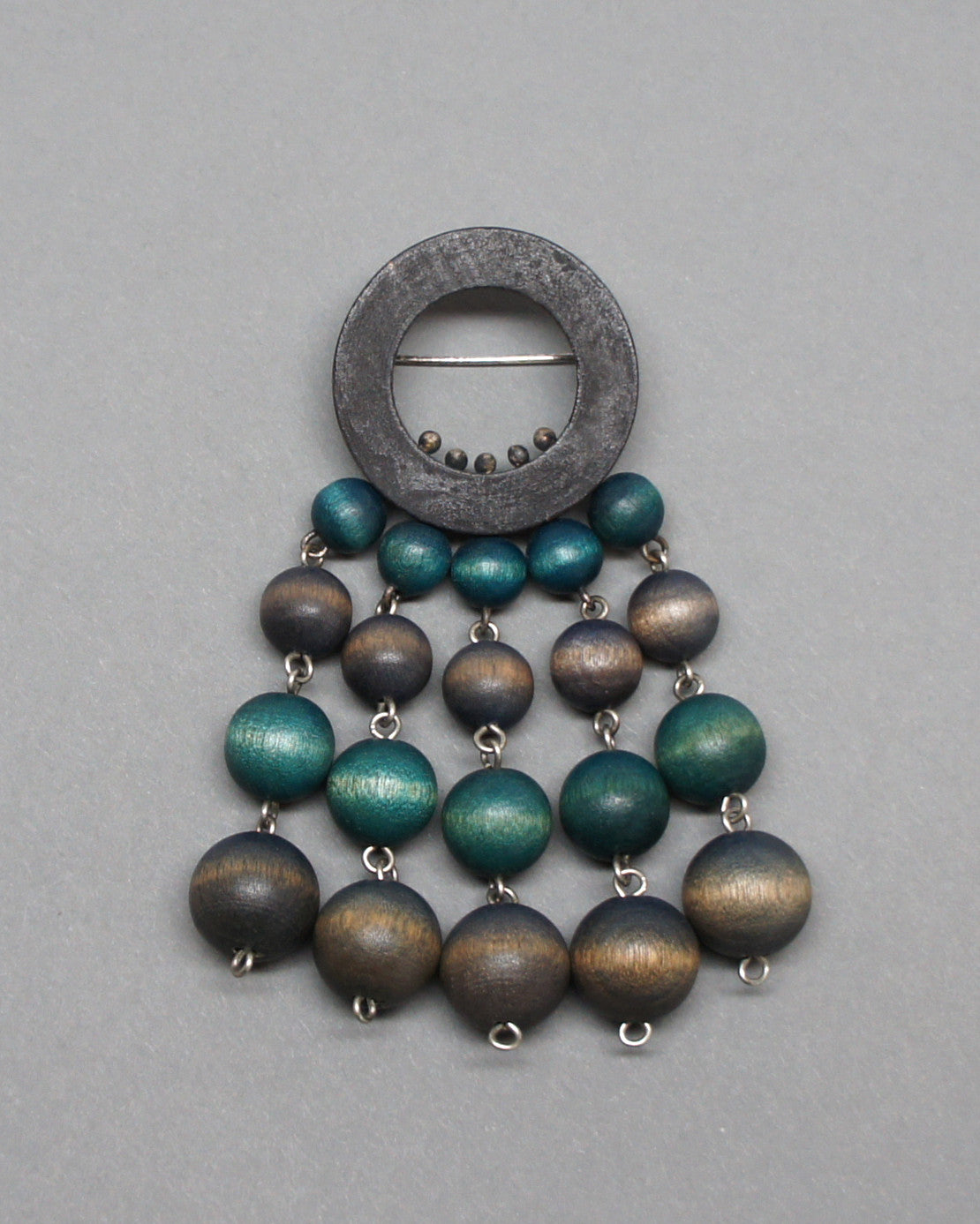 Aarikka Finland Beaded Brooch