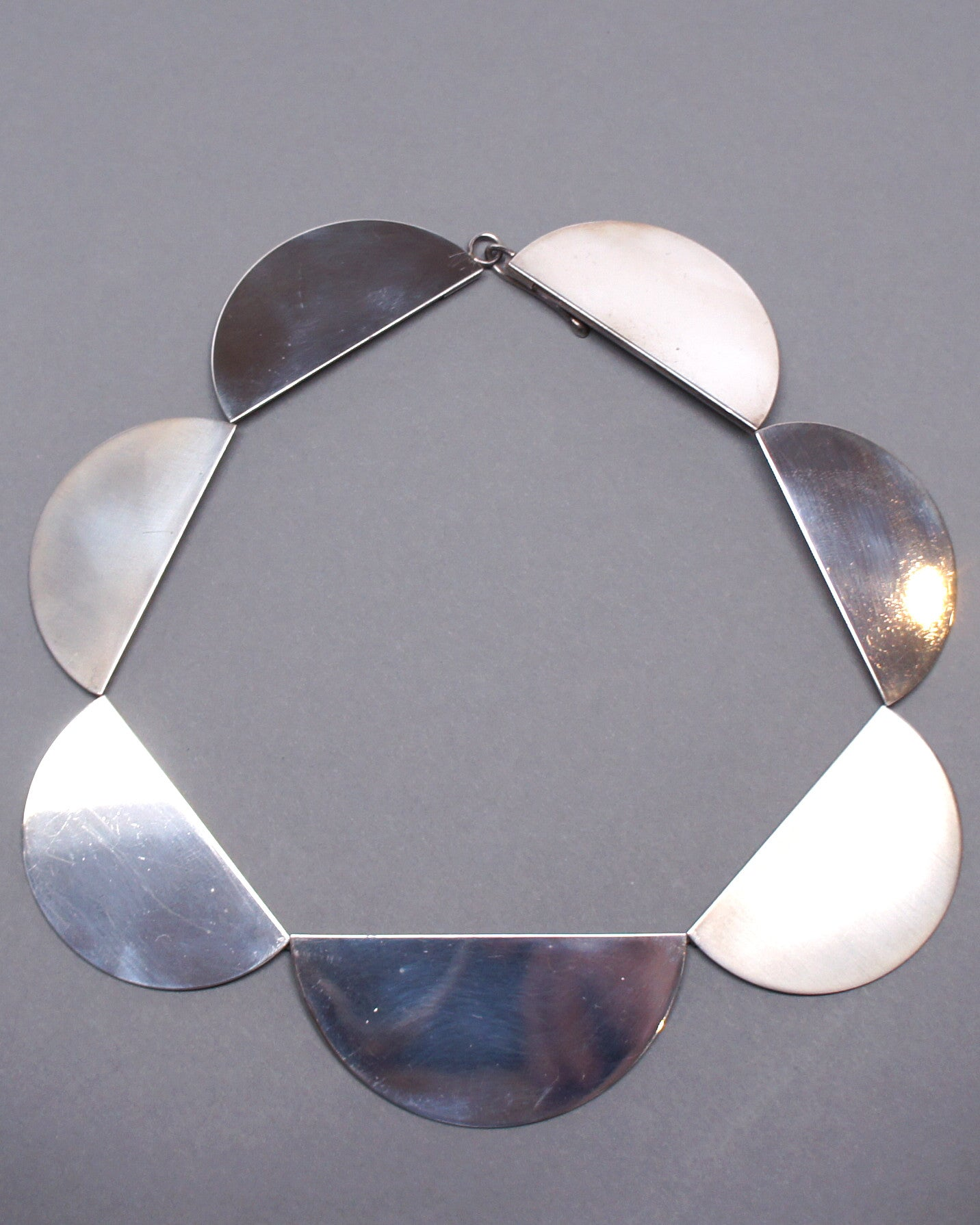 Betty Cooke Half Circle Sterling Collar