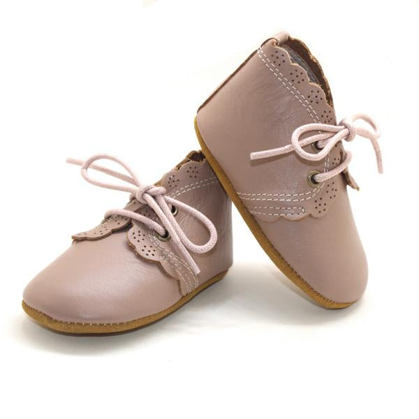 Scollop Boots Hard Sole - Fawn