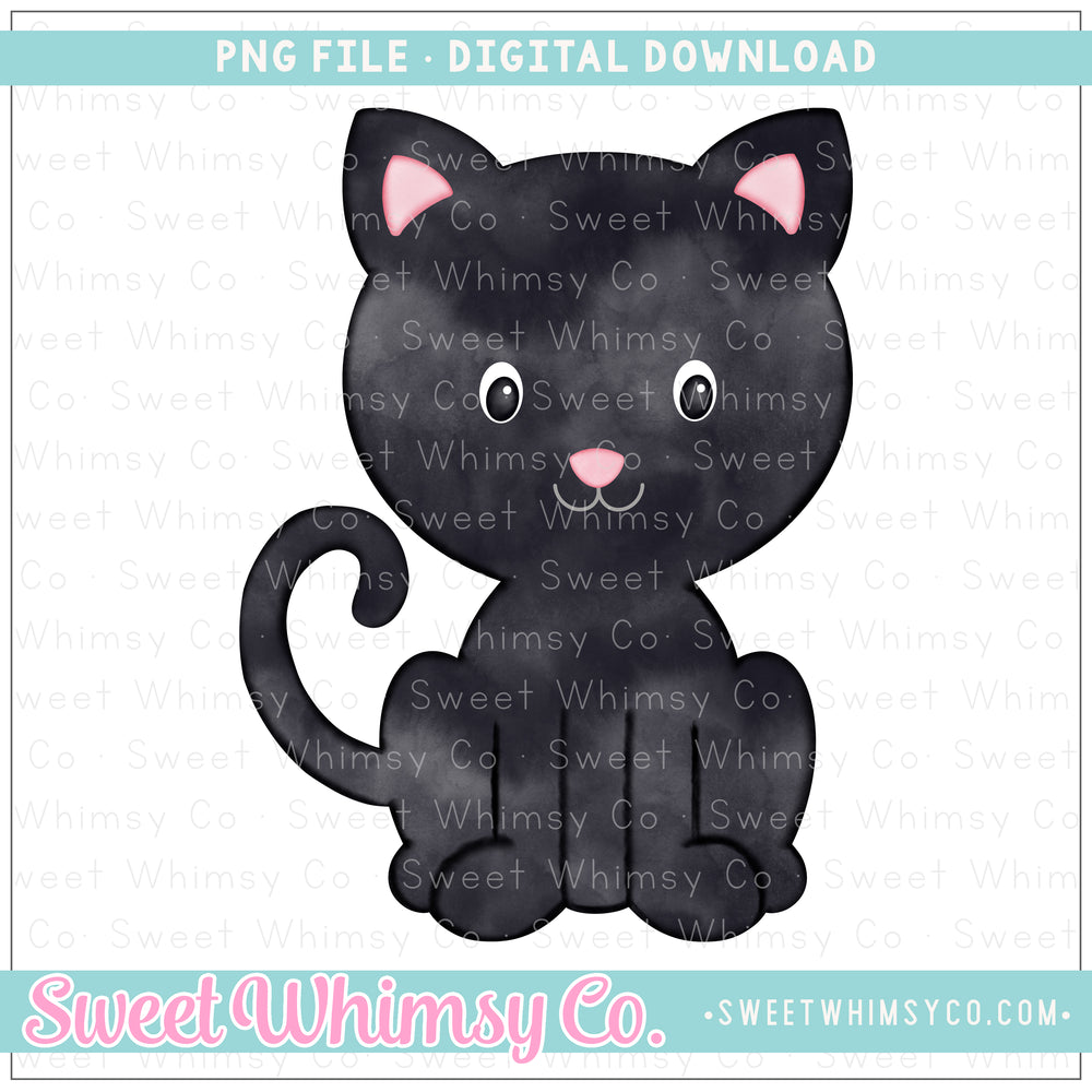 Black Cat PNG Design