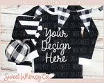 Black & White Check Fall Pajama Mock Up
