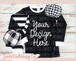Black & White Check Pumpkin Pajama Mock Up