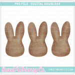 Brown Bunny Head Trio PNG Design