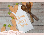 Carrot Dish Towel Mock Up