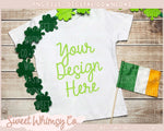 Clover Irish Flag Short Sleeve Shirt Mock Up