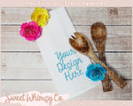 Floral Dish Towel Mock Up