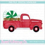 Green Peppermint Vintage Truck PNG Design