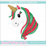 Holly Unicorn PNG Design