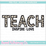 Leopard Teach Inspire Love PNG Design