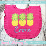 Pineapple Trio Applique Design