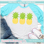 Pineapple Trio PNG Design