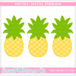 Pineapple Trio SVG Design