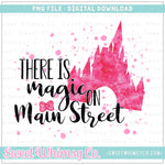Pink Magic on Main Street PNG Design