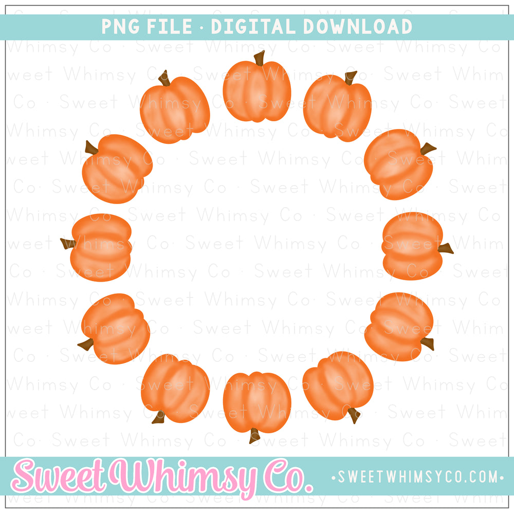 Pumpkin Monogram Frame PNG Design