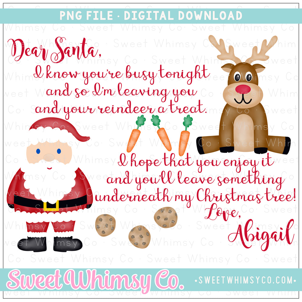 Cookies for Santa PNG Design
