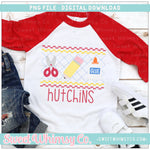 School Days Red & Yellow Faux Smocked PNG Design