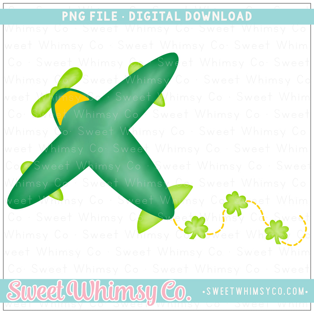 Shamrock Airplane PNG Design