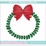 Simple Christmas Wreath PNG Design