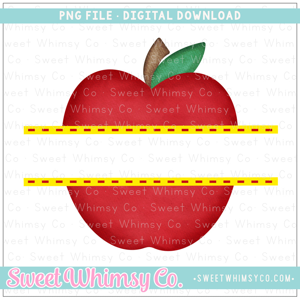 Split Apple PNG Design