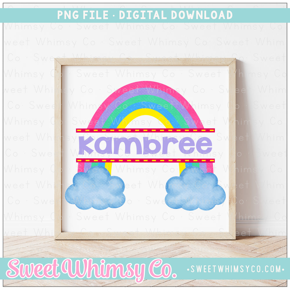 Split Pastel Rainbow PNG Design