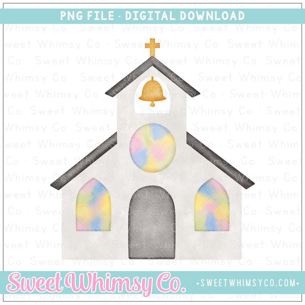 Stained Glass Church PNG Design