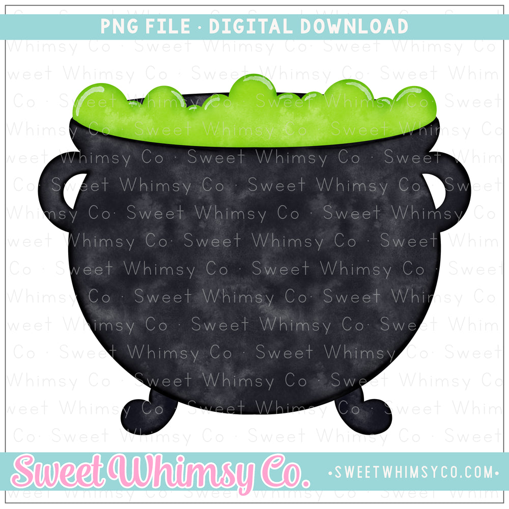 Witch's Brew Cauldron PNG Design