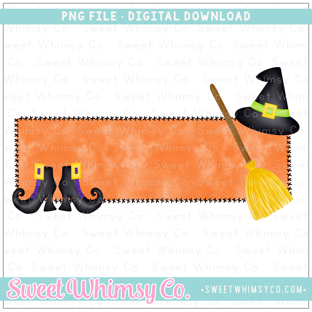 Witch Frame PNG Design