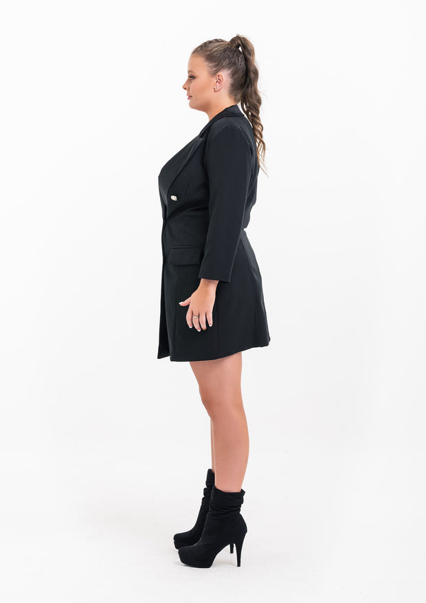 Button Tuxedo Dress