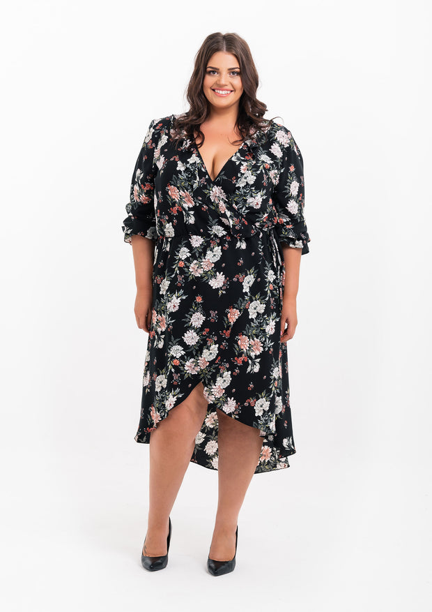 Jardin Frill Wrap Dress