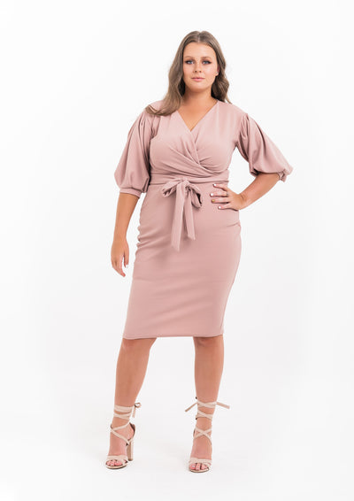 On/off The Shoulder Wrap Dress