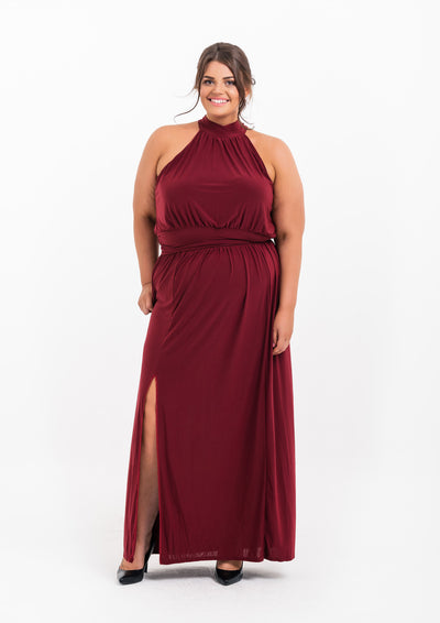 Drape Split Side Maxi Dress STORE
