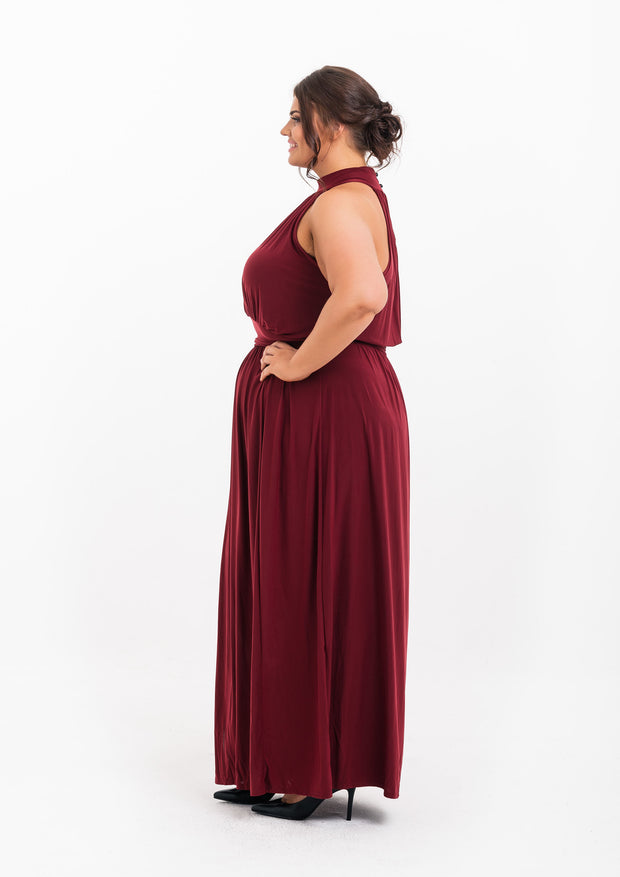 Drape Split Side Maxi Dress
