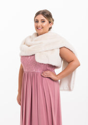 Fur Stole (white vest wrap)