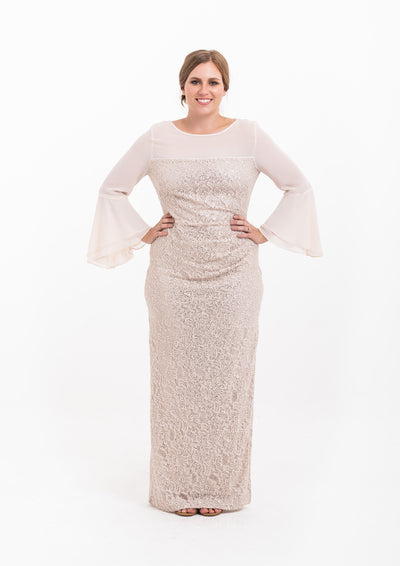 Amelia Bell Sleeve Gown (C)