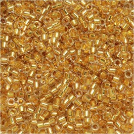 DB0033 Miyuki Delica Seed Beads, 11/0 Size, 24K Gold Lined