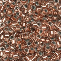 DB0037 Miyuki Delica Seed Beads, 11/0 Size, Copper Lined Crystal