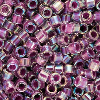 DB0056 Miyuki Delica 11/0 Glass Seed Beads - Lined AB, Magenta