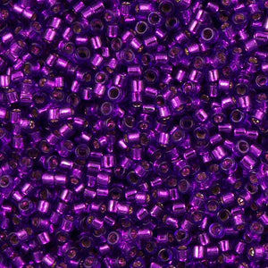 DB1345 Miyuki Delica seed bead 11/0 Dyed Silver Lined Violet