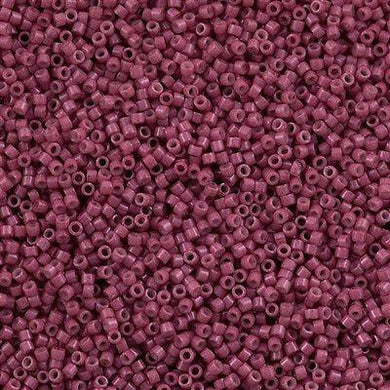 DB1376 Miyuki Delica Seed Bead 11/0 Opaque Dyed Winecolor